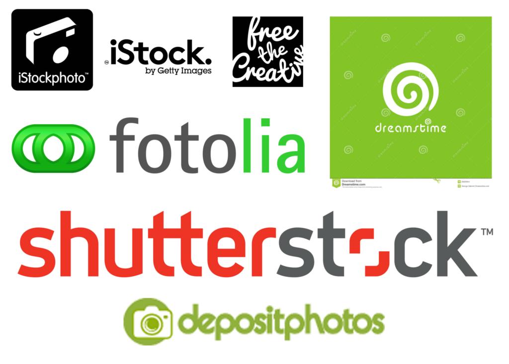 логотипы фотобанков