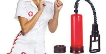 сексуальная медсестра и вакуумная помпа для мужчин